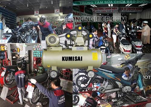 Máy nén khí cho tiệm sửa xe máy, cách lựa chọn phù hợp?