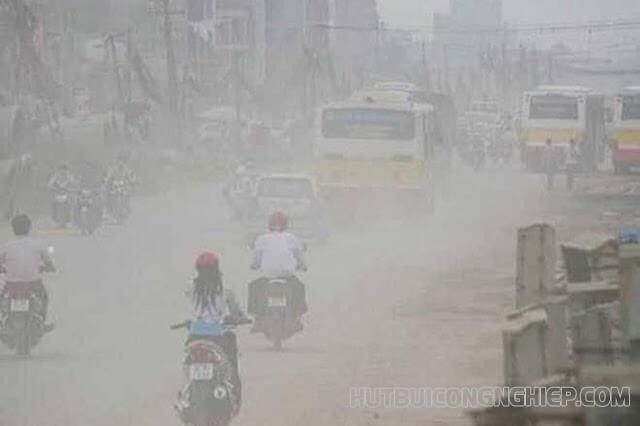 bụi mịn gây nên tình trạng ô nhiễm không khí