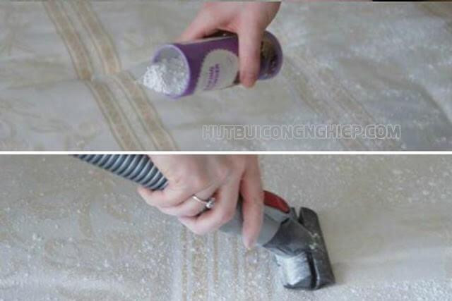 vệ sinh nệm tại nhà bằng baking soda