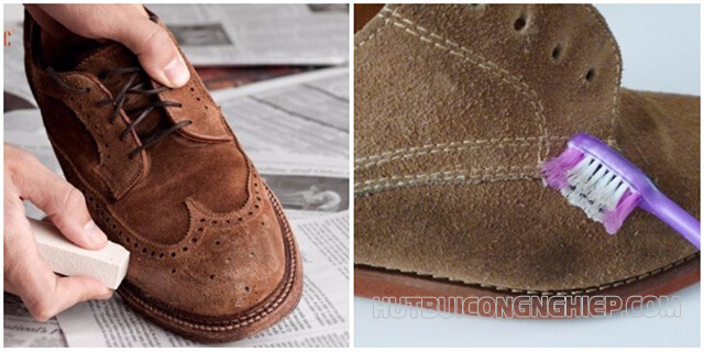 Cách vệ sinh giày da lộn tiết kiệm thời gian