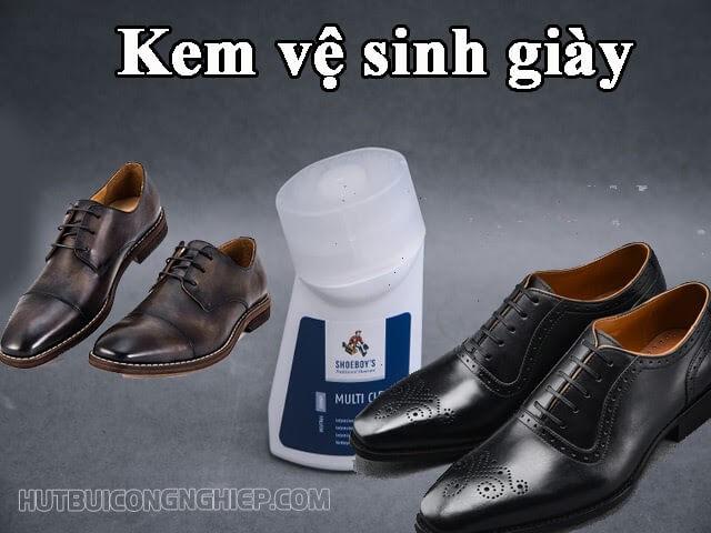 Hô biến đôi giày sáng bóng với máy làm sạch và kem vệ sinh giày