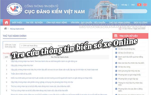 Website chính thức để tìm tên chủ xe qua biển số online