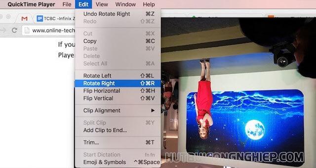 Hướng dẫn xoay chiều video trên máy tính Macbook