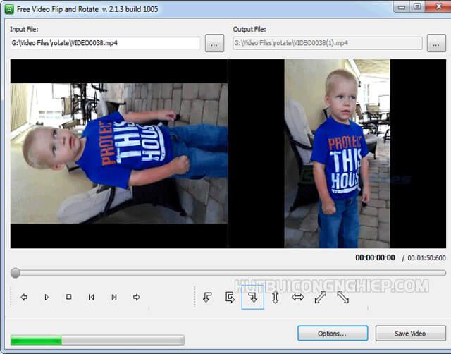 xoay chiều video trên máy tính