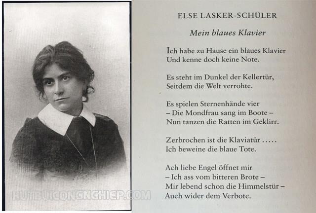 """Nội dung tập thơ tập thơ """"Mein blaues Klavier"""" bằng tiếng Đức"""