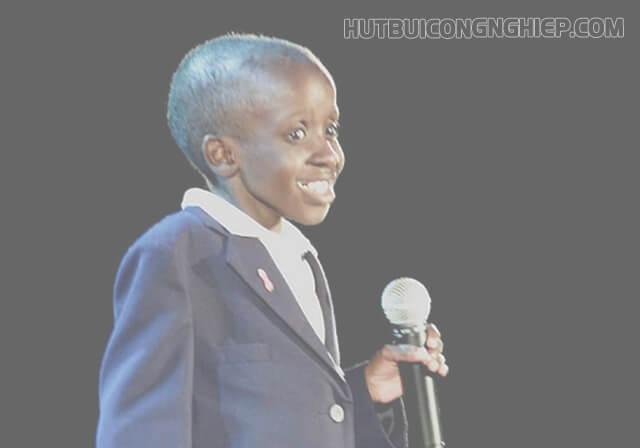 Nkosi Johnson tại Hội nghị quốc tế về AIDS