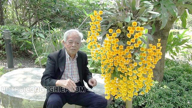 Giáo sư Rapee Sagarik và hoa lan