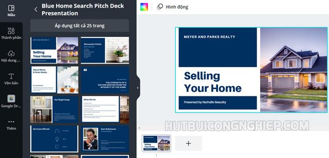 Bản thuyết trình ý tưởng Blue home