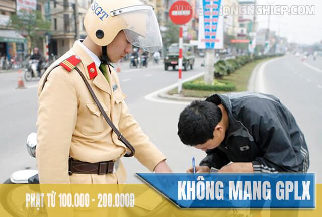 Mức xử phạt khi không mang theo giấy phép lái xe